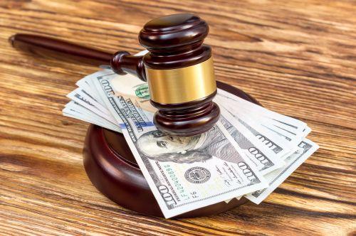 Judge's gavel and cash